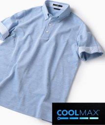 SHIPS MEN/SC: COOLMAX(R) コットン/リネン カノコ ボタンダウン ポロシャツ/502011725