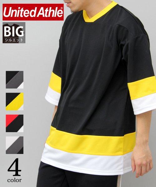 AMS SELECT(エーエムエスセレクト)/【UnitedAthle/ユナイテッドアスレ】4.1オンスドライホッケービッグTシャツ/速乾Tシャツ/CAB-A018
