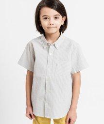 SHIPS KIDS/SHIPS KIDS:クールマックス サッカー ストライプ シャツ(100~130cm)/502012330