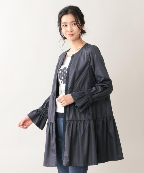 TO BE CHIC(トゥービーシック)/【はっ水】高密度タフタロングコート/W5A90166--