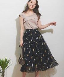 Noela/【美人百花7月号掲載/美人百花6月号掲載】フェザー刺繍スカート/502004534