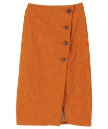 titivate/リネンライクフェイクラップ台形スカート/502014288
