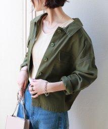 and Me.../コットンツイル背中ボタンオーバーサイズシャツジャケット/502014304