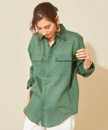 BEAUTY&YOUTH UNITED ARROWS/BY LINIFICIOリネンカラーポケットシャツ/502014719