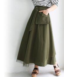 REAL CUBE/ポケットベルト付きチュールスカート/502015891