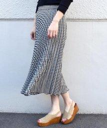 SHIPS WOMEN/ギンガムチェックプリーツスカート/502016228