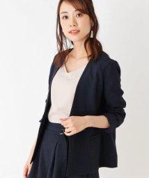 index/【洗濯機洗いOK】ノーカラーダブルジャケット/502016635