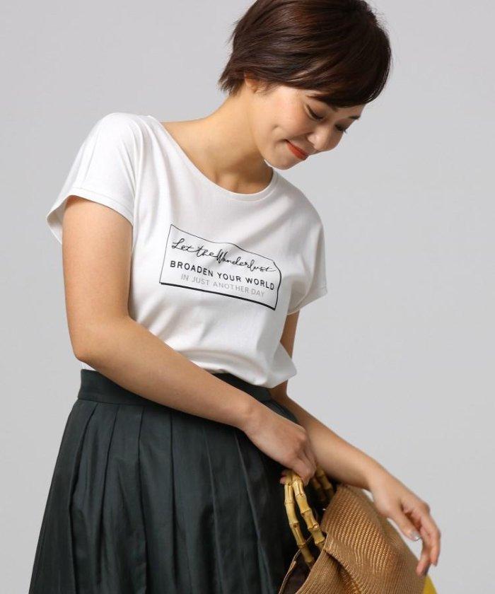 [L]ポワールスムース ロゴTシャツ