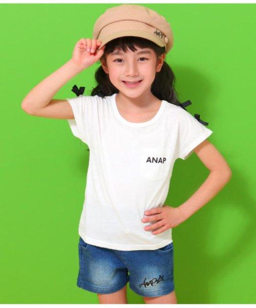 ANAP KIDS(アナップキッズ)/肩リボンポケット付トップス/0437300009