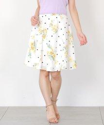 MISCH MASCH/【美人百花6月号掲載】ドット×花柄フレアースカート/501992583