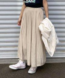 LIPSTAR/シャイニーサテンプリーツスカート/501992664