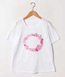 GUEST JOCONDE/【大きいサイズ/洗える】オリジナルプリント/コットン天竺Tシャツ/502011130