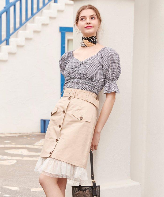 2WAYトレンチ風スカート