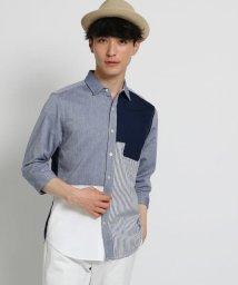THE SHOP TK/切替パナマシャツ/502019598