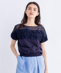 LANVIN en Bleu/シフォンフリルニット/501936007