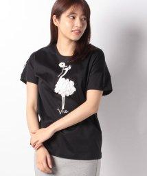 VICE VERSA/【洗える】コットンシルケット天竺 バードプリントTシャツ/502011187