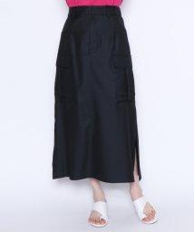 LASUD/★【アーガ Aga】サイド フラップ付きポケット セミフレアスカート/502016429