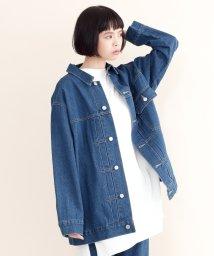 merlot/【IKYU】ビッグシルエットデニムジャケット/502022687