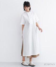 merlot/【IKYU】スタンドカラーダブルフロントシャツワンピース/502022893