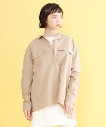 merlot/オープンカラーバックリボンシャツ/502022904