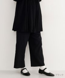 merlot/ドットライン刺繍コットンラップパンツ/502022913