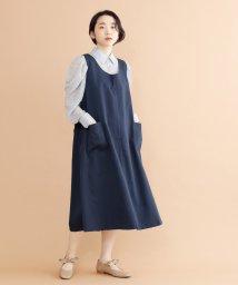 merlot/【plus】バックボタンデザインジャンパースカート/502022925