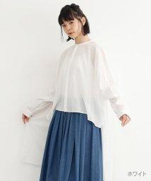 merlot/【IKYU】バンドカラーロングテールシャツ/502022927