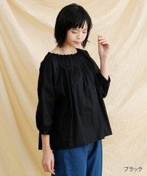 merlot/【IKYU】ボートネックタックブラウス/502022928