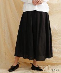 merlot/【IKYU】リネンミックスギャザースカート/502022930