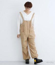 merlot/ドロスト裾ミリタリーサロペット/502022932