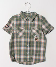 BENETTON (UNITED COLORS OF BENETTON BOYS)/KIDSポプリンチェックアップリケシャツ・ブラウス/500961025
