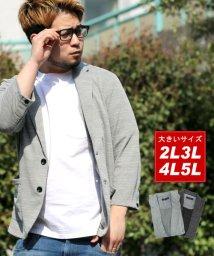 MARUKAWA/大きいサイズ 7分袖 テーラード ジャケット/501979661