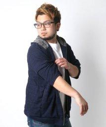 MARUKAWA/大きいサイズ 5分袖 フル ジップ パーカー 半袖/501979662