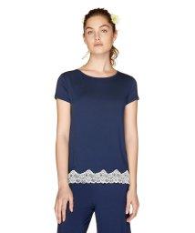 BENETTON (women)/ラウンドネック配色レースフレアTシャツ・カットソー/502012443