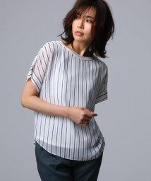 UNTITLED/[L]【洗える】ルーチェ ストライププリント シャツ/502025341