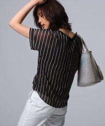 UNTITLED/【洗える】ルーチェ ストライププリント シャツ/502025349