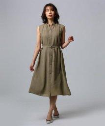 UNTITLED/[L]【洗える】トリアセワッシャークロスワンピース/502025363