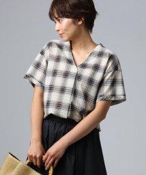 UNTITLED/チェックスキッパーシャツ/502025403