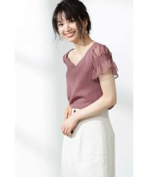 PROPORTION BODY DRESSING/袖スモッキングシフォンジョーゼットブラウス/502025732