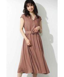 PROPORTION BODY DRESSING/開襟衿ベルト付きワンピース/502025738