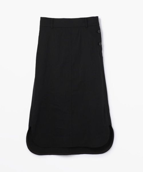 DES PRES(DES PRES)/リネンナイロンストレッチ ラウンドへムスカート/22059205301