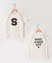 petit main/アルファベットアップリケTシャツ/501987601