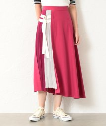 LOVELESS WOMEN/【TVドラマ着用】【GUILD PRIME】WOMEN カラーブロックベルテッドスカート/501934056