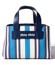 MIUMIU/【MIUMIU】ストライプ トートバッグ/501996933