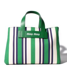 MIUMIU/【MIUMIU】ストライプ トートバッグ/501996934