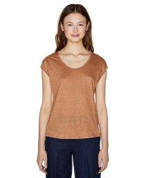 BENETTON (women)/リネンラウンドネックフレンチスリーブ半袖Tシャツ・カットソー/501999742