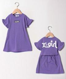 X-girl Stages/ボックスロゴフリルワンピース/502011058
