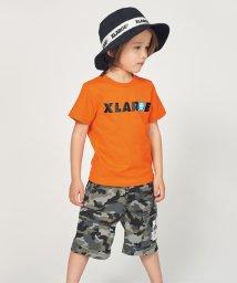 XLARGE KIDS/ファニーアップリケ&ロゴTシャツ/502014667