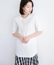 haco!/毎日づかいに便利なヴィンテージブロードリブ ヘンリーネック 半袖Tシャツ by Healthknit/502015896