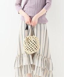 IENA/MARCHER チュールラフィア巾着バッグ/502026849